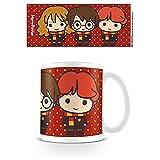 Harry Potter - Taza de cerámica con ilustraciones japonesas de Harry, Ron y Hermione