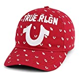 True Religion Men's Monogram Horseshoe Cap, Ruby Red,One Size Fits All