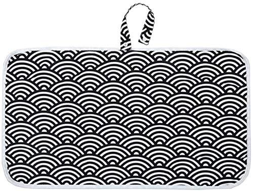 Cheap4uk - Cambiador de pañales, portátil, plegable, para viajes, pañales, pañales para bebés, bebés, bebés, recién nacidos, artículos esenciales para bebés (negro)
