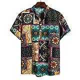 (A06,3XL)メンズ 夏 秋 カーディガン 7分袖 和式パーカー 開襟シャツ 大きいサイズ カジュアル ゆったり 羽織 おしゃれ 無地