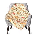 Manta de bebé para niños y niñas, lindas setas vivero mantas para el hogar suave manta de cama unisex cuna de peluche 30 x 40 pulgadas
