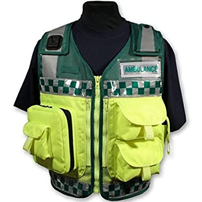 "Protec Green and Yellow Medic Paramedic Ambulance Response Vest (Small 28""-38"", Medic) by"