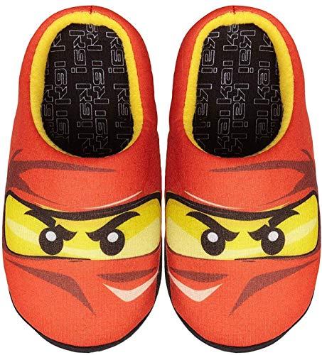 Official Brand Lego Ninjago Red Ninja Kai Boys Slippers (24-25)