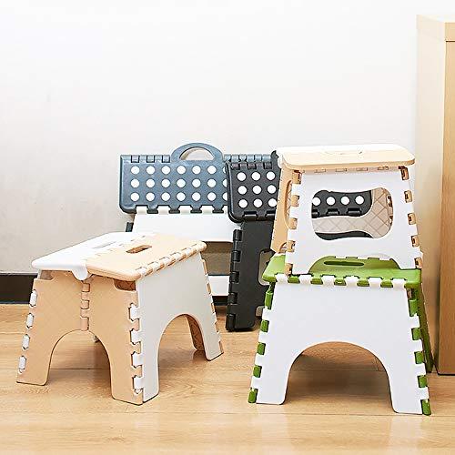 Wghz Faltbarer Hocker, Kunststoff Mehrzweck-Heimzug Außenlagerung Leichter Rutschfester Klapp-Tritthocker für Kinder und Erwachsene - Perfekt für Küche, Bad, Schlafzimmer