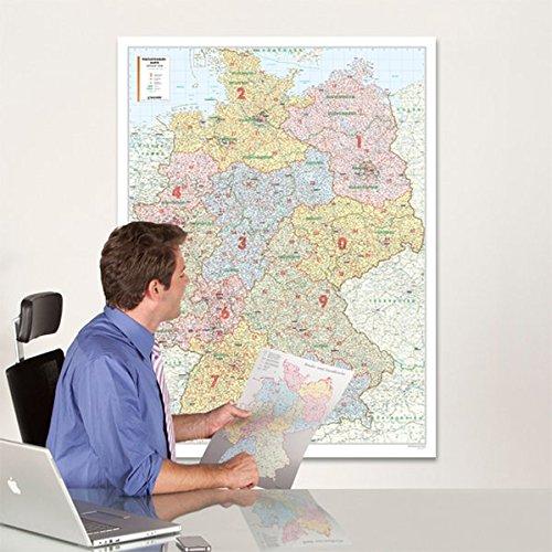 BACHER Postleitzahlenkarte Deutschland, Maßstab 1:700 000, Papierkarte gerollt, folienbeschichtet: Die Postleitzahlenkarte Deutschland beinhaltet 1- ... Inkl. BACHER Gebietsplaner im DIN A3 Format.