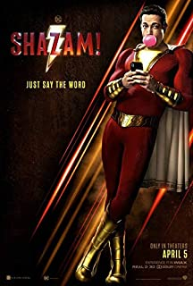 SHAZAM (2019) Original Authentic Movie Poster 27x40 - Double-Sided - Zachary Levi - Mark Strong - Adam Brody - Michelle Borth