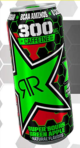 Rockstar XDurance Energy Drinks - 6, 16ounce Cans (Super Sours Green Apple)