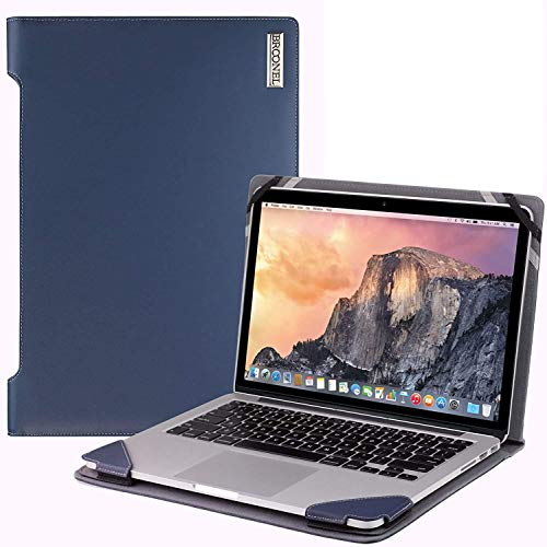 """Broonel - Profile Series - Blue Leather Laptop Case Compatible With Lenovo ThinkPad P43s 14"""""""