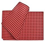 WOWOSS Tappetino da Forno in Silicone Antiaderente, Tappetino da Forno per Biscotti Resistente al Calore da -40°C a 240°C, 468er, 40x28 cm, Rosso