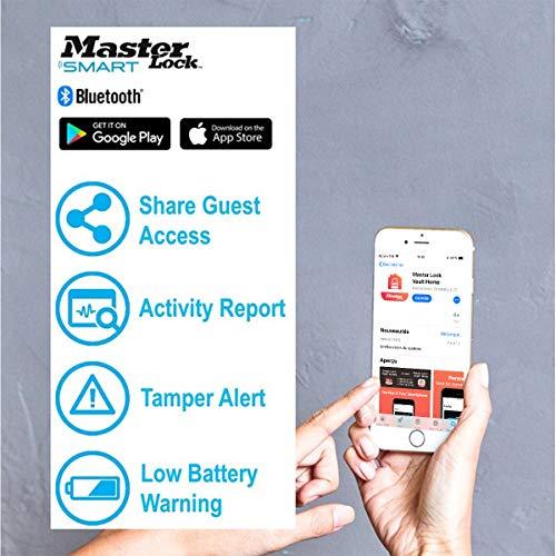 MASTER LOCK Boite à clés sécurisée connectée [Bluetooth] [Fixation murale] - 5441EURD - Select Access smart Partagez un accès à vos clés à distance