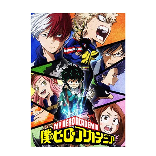 Elibeauty My Hero Academia – Poster mural manga anime sans cadre