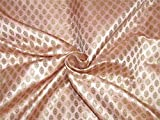 TheFabricFactory Brokat-Stoff, Rosa, Rosa, Metallic-Gold,