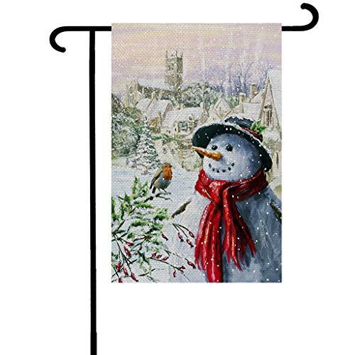 Fasclot American Garden Double-Sided Christmas Merry Christmas Courtyard Banner Home & Garden Decoration & Hangs