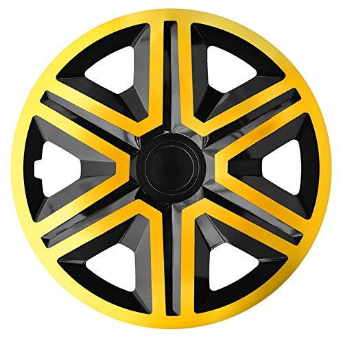 """NRM Radkappen Action, Gold-Schwarz 15\"""" Zoll. (4 x Universal Radzierblenden/Radkappen)"""