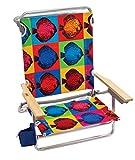 Rio Brands Beach Classic 5 Position Lay Flat Folding Beach Chair - Graphic Traffic Fish, 8.5'
