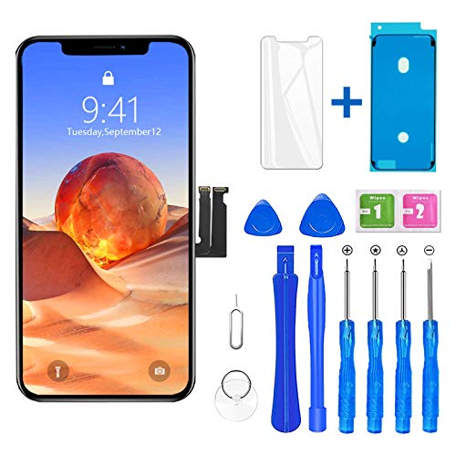 for iPhone XR Screen Replacement, Model A1984, A2105, A2106, A2108, with Complete Repair Tool Set, 6.1 Inch LCD Display Touch Screen Digitizer Assembly with Screen Protector and Waterproof Seal