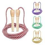 Cuerda para Saltar para niños, Shinfly 4 piezas de cuerda de saltar acrílica, cuerda de saltar ajustable en 4 colores con cuerda de algodón