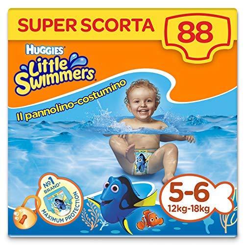 Huggies Little Swimmers Pannolini, Taglia 5-6 (12-18 kg), 88 Pannolini Costumini
