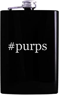 #purps - 8oz Hashtag Hip Alcohol Drinking Flask, Black