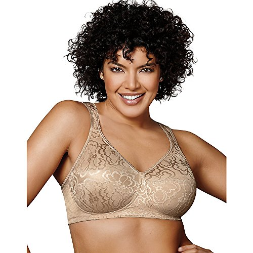 Playtex Women's 18 Hour Ultimate Lift and Support Wire Free Bra US4745, Available in Single and 2-Packs, Nude, 40G
