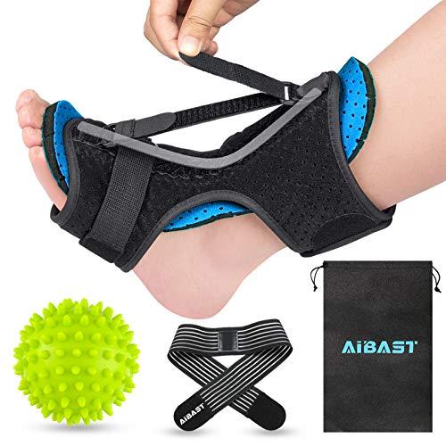 AiBast Plantar Fasciitis Night Splint, 2021 New Upgraded Blue Multi Adjustable Ankle Brace Foot Drop Orthotic Brace for Plantar Fasciitis, Arch Foot Pain, Achilles Tendonitis Support for Women Men