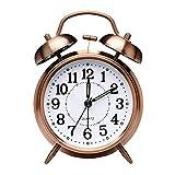 Reloj Despertador Retro, Reloj Despertador Antiguo con Doble Campana Gemela...