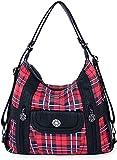 angel kiss Satchel Handbag for Women, Ultra Soft Washed Vegan Leather Crossbody Bag, Shoulder Bag,...