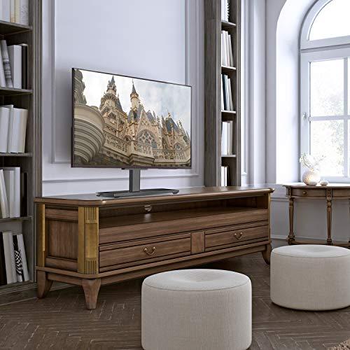 Support RENTLIV pour TV générale/Support avec Une Base en Bois Robuste pour TVs de 32 à 55 po,Compatible Jusqu'à VESA 400 x 400mm et 45 kg.