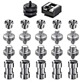 muscccm Camera Screw, 22 Pcs 1/4 Inch and 3/8 Inch Converter Threaded Screws Adapter Mount Camera Hot Shoe Mount to 1/4 Set for Camera/Tripod/Monopod/Light Stand