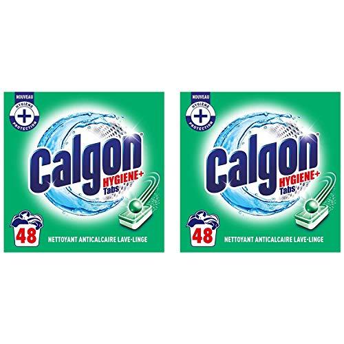 Calgon Anti-Kalk-Tabs Hygiene Plus für die Waschmaschine, 2 Packungen mit 48 Stück