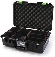 Black & Lime Green Pelican 1485 Air case with Trekpak dividers.