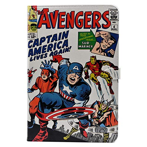 TPACC Galaxy Tab S6 Lite 10.4 Case 2020 Leather Slim Folding Multi-Angle Viewing Protective Stand Cover for Samsung Galaxy Tab S6 Lite 10.4 inch Tablet [SM-P610/P615],Cartoon Comic Superhero Alliance