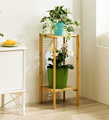 LJYHJ Stockage de Pot de Fleurs Support de Fleur Cadre de Pot de Fleur de Bois Solide économiser de l'espace Salon intérieur Balcon extérieur Patio Plante Bonsaï Cadre décoratif Étagère de Jardin