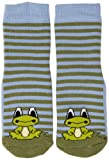 Country Kids Slipper Sock Frog Chaussettes, Vert (Green), 9 Ans (Taille Fabricant:9-11 Years) Mixte bébé