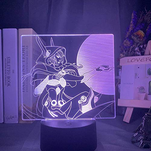 Des Nachtlichts 3D3D Nachtlicht Illusionslampe Führte Legenden Xayah Figur Buntes Neujahrsgeschenk Für Gamer Kinder Bedoom Dekor Schreibtisch-Mit Fernbedienung