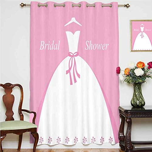 Cortina opaca para decoración de ducha de novia, vestido de novia con...