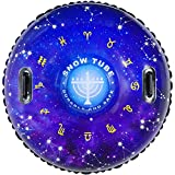 HITOP Snow Tube, Inflatable Snow Sled for Kids and Adults, Heavy Duty Snow Tubing Made by Thickening Material of 0.9mm,Snow Toys Gifts for Kids Outdoor(Starry sky)