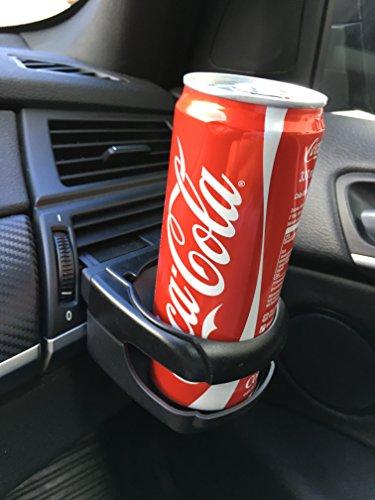 Stabiler Getränkehalter Flaschenhalter für Auto PKW KFZ LKW - Einfache Montage an Lüftungsauslässe - Verstauen & Ordnung - Mehr Platz für Getränke