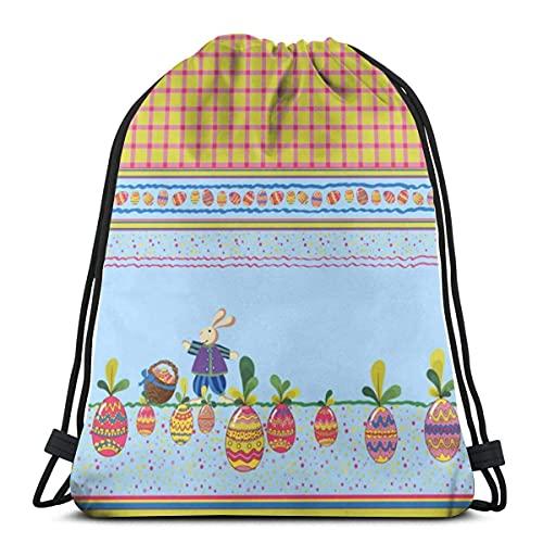 Lmtt Bolsas con cordón, conejos, felices fiestas, mochila, bolsas con cuerdas, almacenamiento deportivo a granel, gimnasio para hombres, mochila de viaje de hombro, talla única