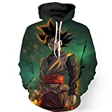 YangXinYuan Unisex Anime Hoodie 3D Print Cosplay Pullover Hooded Sweatshirt (L, 0652)