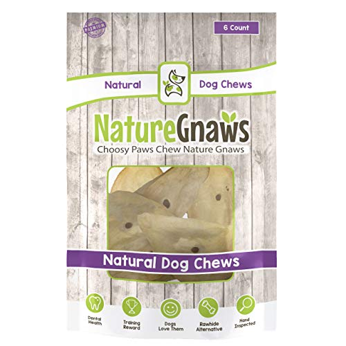 Nature Gnaws Large Whole Cow Ears (50 Count) Bulk...