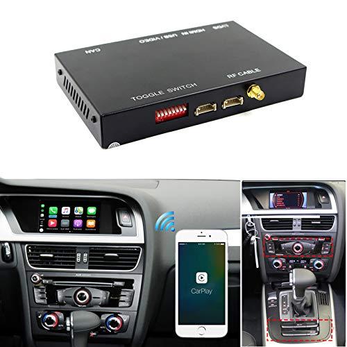 Cinsionze - Kit di decodificatori per auto con cavo wireless per auto Android 2010-2019, Audi A3, A4, A5, A6, A7, A8, Q3, Q5, Q7, supporto per mirroring AirPlay Siri, mappe musicali Navi