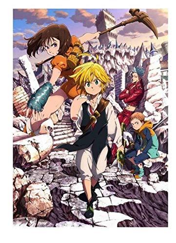 xuyuandass Los Siete Pecados Capitales De Umeda Anime Manga Pintura De Pared Sin Marco 50x60Cm K2187