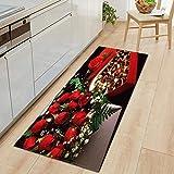 OPLJ Alfombrilla antideslizante para el comedor del día de San Valentín para puerta de entrada y entrada rectangular para puerta de entrada, alfombra de pasillo A15, 50 x 160 cm