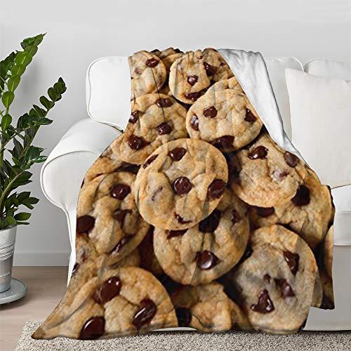 Multi-Styles Food Dessert Chocolate Cookie Throw Blanket Quilt Bedspread Flannel Ultra Soft...