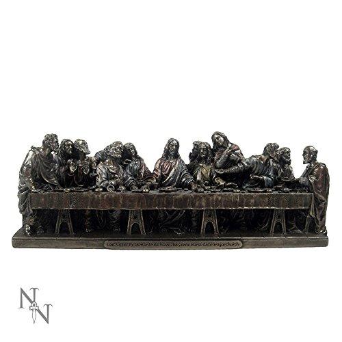Bronzefigur Jesus Christus Das letzte Abendmahl, inspiriert von Leonardo Da Vincis Gemälde