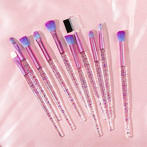Ombre brosse mignon oeil licorne rose jeu eyeliner sourcil oeil brosse de maquillage de beauté outils cosmétiques (Handle Color : Pink)