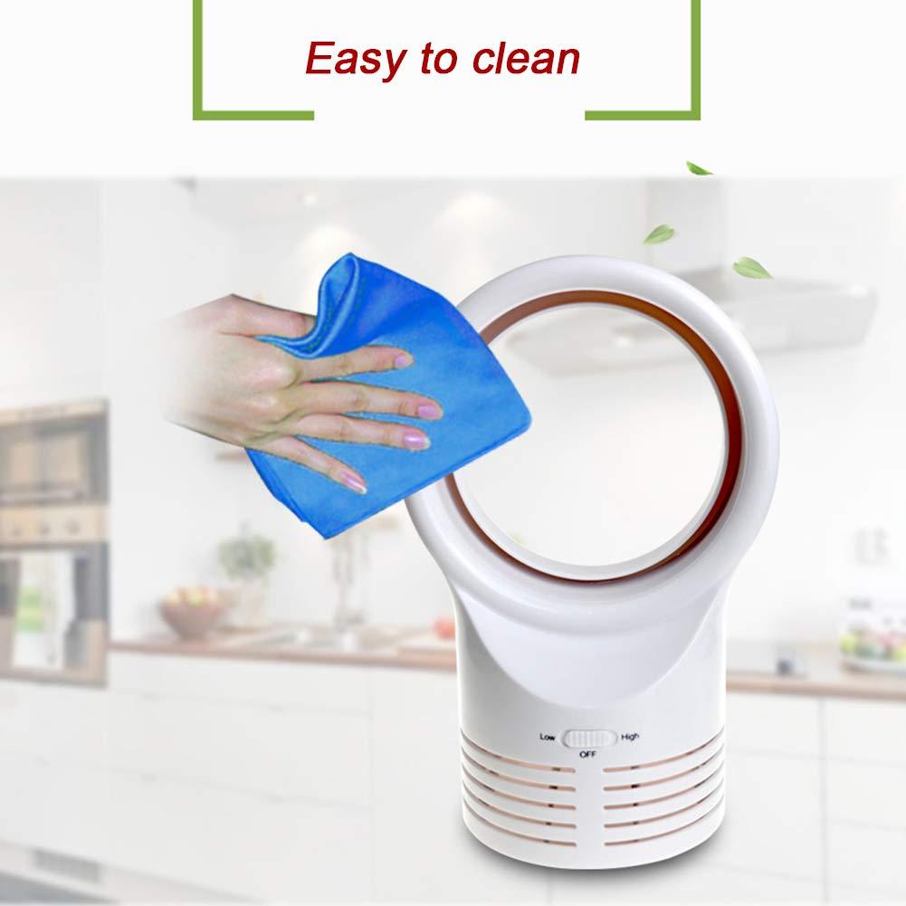 AKAKKSKY Ventilador sin aspas Diseño silencioso de Seguridad en el Trabajo Cómodo fácil de Limpiar Adecuado para familias, niños, Estudiantes: Amazon.es: Hogar
