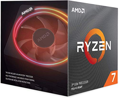 AMD Ryzen 7 3700X 8-Core, 16-Thread Unlocked Desktop Processor with Wraith Prism LED...
