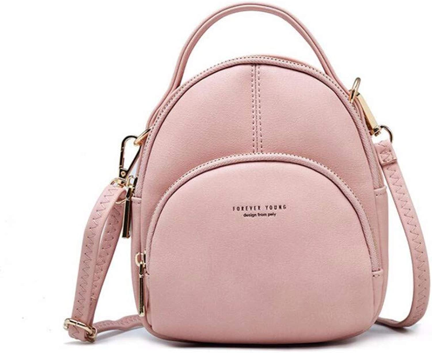 Fashion Single-Shoulder Bag Inclined Straddle Bag Multi-Functional Lady's Shoulder Bag Multi-Functional Small Backpack Handbag